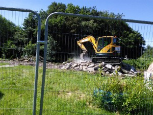 Preparing the land for the building